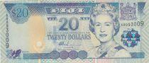 Fidji 20 Dollars Elisabeth II - Parlement - 2002
