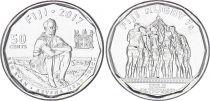 Fidji 50 cents  - pièce commémorative rugby à 7 - 2017