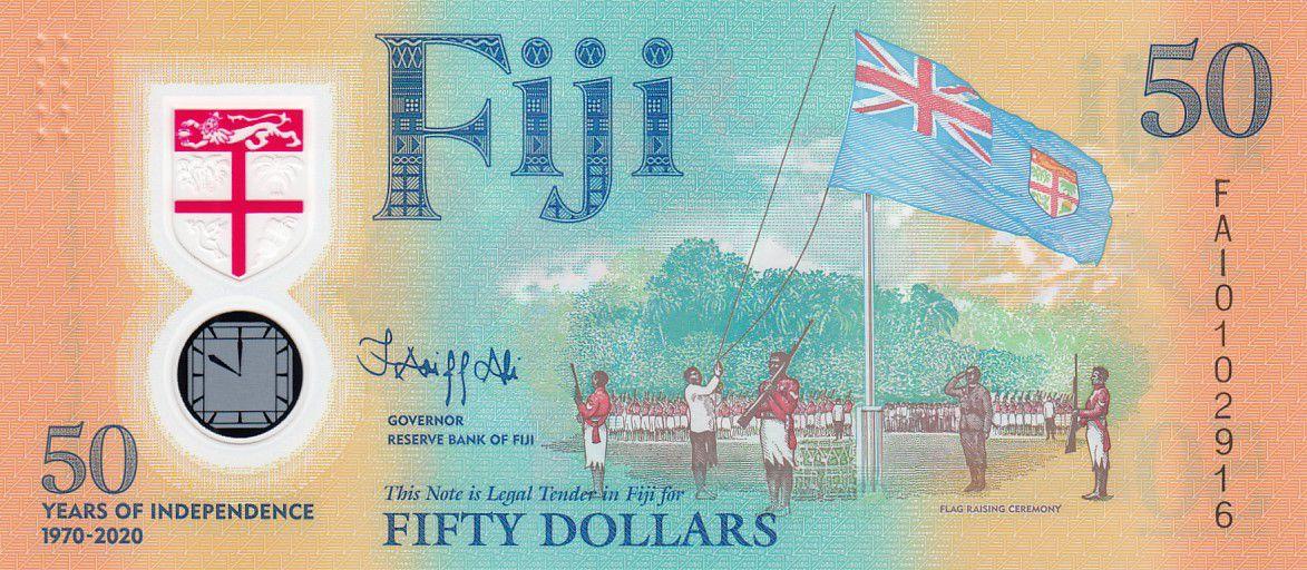 Fidji 50 Dollars - 50 Ans de l\'Independance - 1970-2020 - Polymer - Neuf