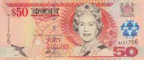 Fidji 50 Dollars Elisabeth II - Cérémonie du Drapeau - 2002