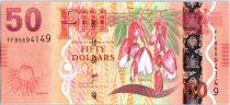 Fidji 50 Dollars Fleurs - Fijiens 2013