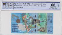 Fidji 7 Dollars, Médaille d\'Or de Rugby 2016 - Jeux de Rio - 2017 - PCGS 66 OPQ