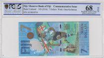 Fidji 7 Dollars, Médaille d\'Or de Rugby 2016 - Jeux de Rio - 2017 - PCGS 68 OPQ
