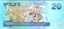 Fidji P.117 20 Dollar, Oiseau - Ouvriers - 2013