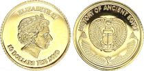 Fiji 10 Dollars - Elizabeth II - History of Ancient Egypt - 2010 - Gold