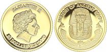 Fiji 10 Dollars - Elizabeth II - History of Ancient Egypt - Toutankhamen 2010 - Gold