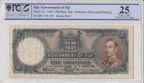 Fiji 5 Shilling George VI - 1942 - PCGS VF 25