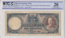 Fiji 5 Shilling Georges V  - - 1934 - PCGS VF 20
