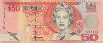 Fiji 50  Dollars Elizabeth II - Flag raising ceremony - 1996