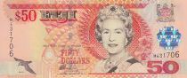 Fiji 50 Dollars Elizabeth II - Flag raising ceremony - 2002