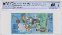 Fiji 7 Dollars, Gold Medal of Rugby 2016 - Games of Rio - 2017 - PCGS 68 OPQ