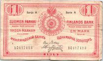 Finland 1 Markkaa Red - 1915 Serial A