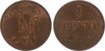 Finland 1 Penni - Nicolas II - MIXED YEARS 1895-1916 - VF - KM.13