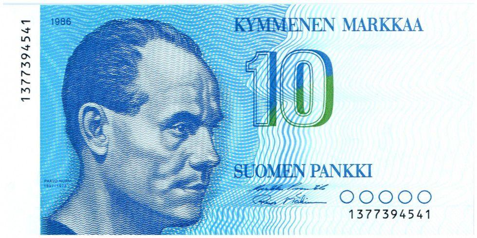 Finland 10 Markkaa Paavo Nurmi - Helsinki stadium - 1986