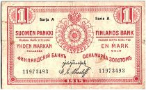 Finlande 1 Markkaa Rouge - 1915 Série A - TTB - P.16