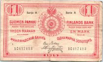 Finlande 1 Markkaa Rouge - 1915 Série A (2em)