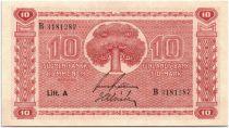 Finlande 10 Markkaa Arbre - 1945 Litt. A - B 3181287