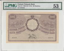 Finlande 10 Markkaa Paysan et Chevaux - 1909 (ND 1918) - PMG 53