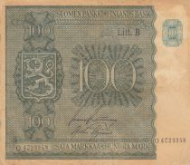 Finlande 100 Markkaa Armoiries - 1945
