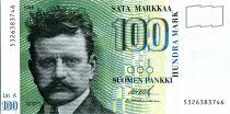 Finlande 100 Markkaa Jean Sibelius - Cygnes - 1986