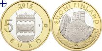 Finlande 5 Euro, Hérisson Uusimaa - 2015