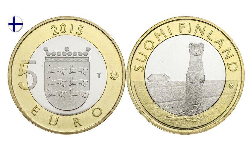 Finlande 5 Euro, Hermine Ostrobothnia - 2015