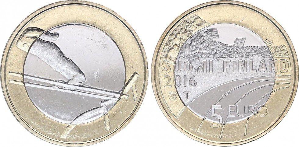 Finlande 5 Euro, Saut à Skis - 2016
