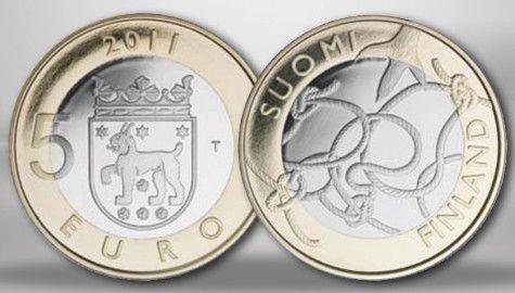Finlande 5 Euros Tavastia - 2011 BU