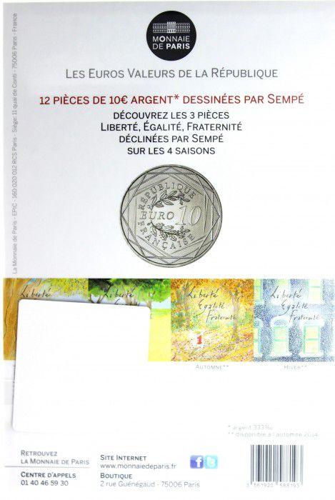 France - Monnaie de Paris 10 Euro Eté 2014 - Liberté