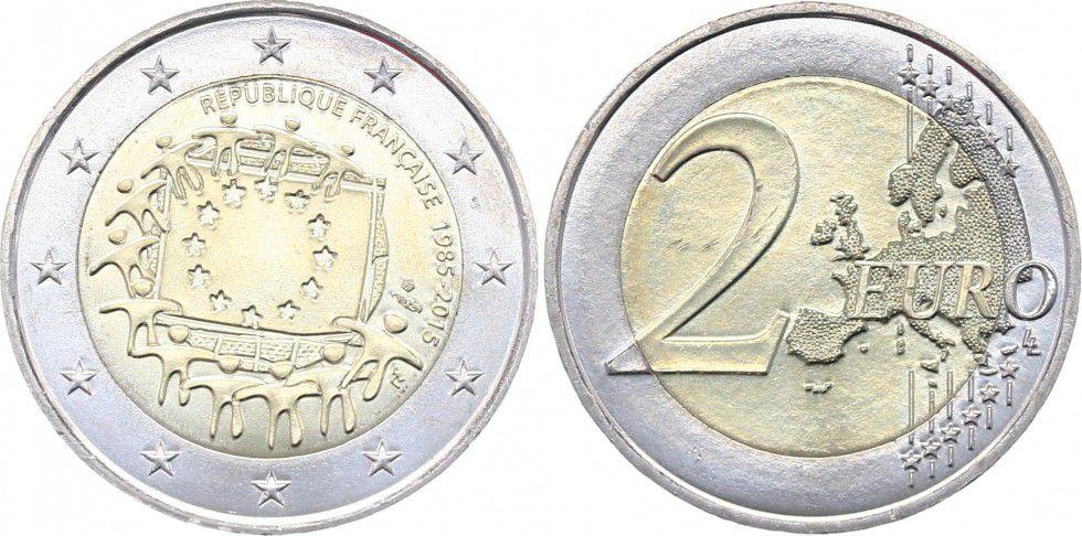 France - Monnaie de Paris 2 Euro 30 ans Drapeau Européen - 2015