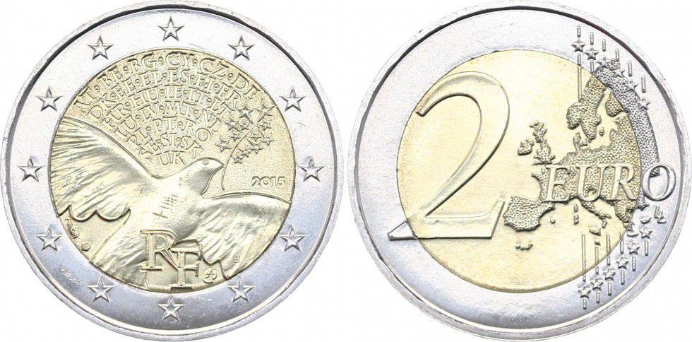 France - Monnaie de Paris 2 Euro 70 ans de la Paix - 2015