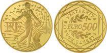 France - Monnaie de Paris 500 Euro Or Semeuse - 2010