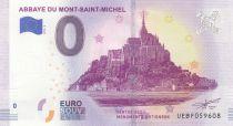 France 0 Euro -  Mont Saint Michel - Touristic banknote 2019 UNC