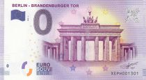 France 0 Euro 2017 - Berlin, Brandeburger Tor - Touristic banknote