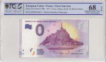 France 0 Euro 2017 - Mont Saint Michel - Billet touristique - PCGS 68 OPQ