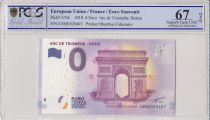 France 0 Euro 2018 - Arc de triomphe, Paris - Billet touristique - PCGS 67 OPQ