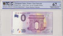 France 0 Euro 2018 - Arc de triomphe, Paris - Billet touristique - PCGS 67 OPQ