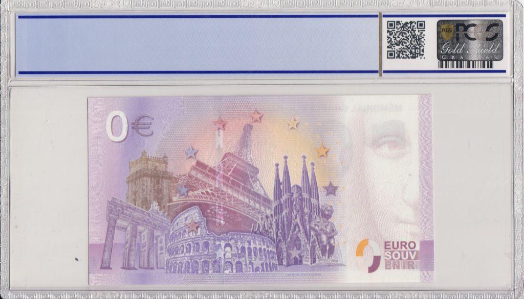 France 0 Euro 2018 - Charles de Gaulle - Billet touristique - PCGS 68 OPQ