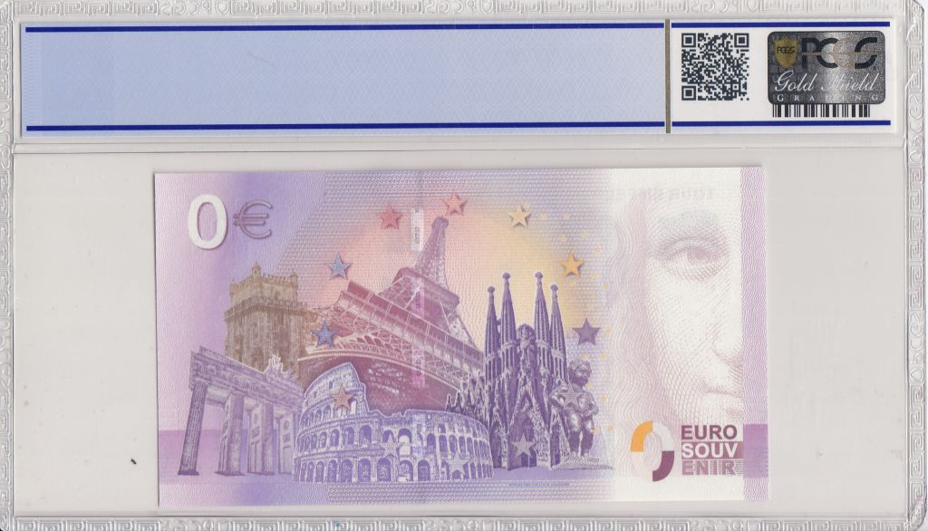 France 0 Euro 2018 - Tour Eiffel Paris - Billet touristique - PCGS 68 OPQ
