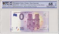 France 0 Euro 2018 - Tours de Notre-Dame de Paris - Billet touristique - PCGS 68 OPQ
