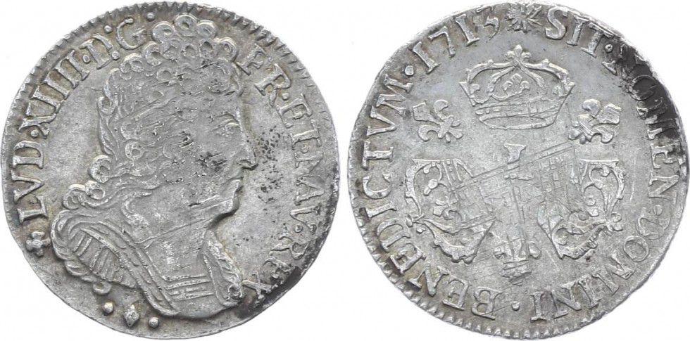France 1/10 Ecu Louis XIV aux 3 Couronnes