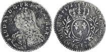 France 1/10 Ecu Louis XV - 1733 T Nantes Silver