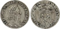 France 1/12 Ecu Louis XIII - 2em poinçon de Warin - 1642 A