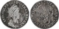 France 1/12 Ecu Louis XIII - Type Warin - 1643 A Paris - Silver