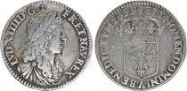 France 1/12 Ecu Louis XIV  - Buste juvénile- 1659 A Paris - Argent