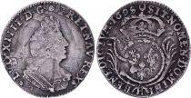 France 1/12 Ecu Louis XIV aux Palmes - 1695 H La Rochelle Argent
