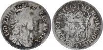 France 1/12 Ecu Louis XIV buste juvénile - 1663 A Paris - Argent