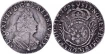 France 1/12 Ecu Louis XIV with palmes 1695 H La Rochelle Silver