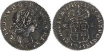 France 1/12 Ecu Louis XV - 1719 A Paris - Argent