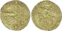 France 1/2 Ecu d\'Or au Soleil, François Ier - 1519 Toulouse Rare